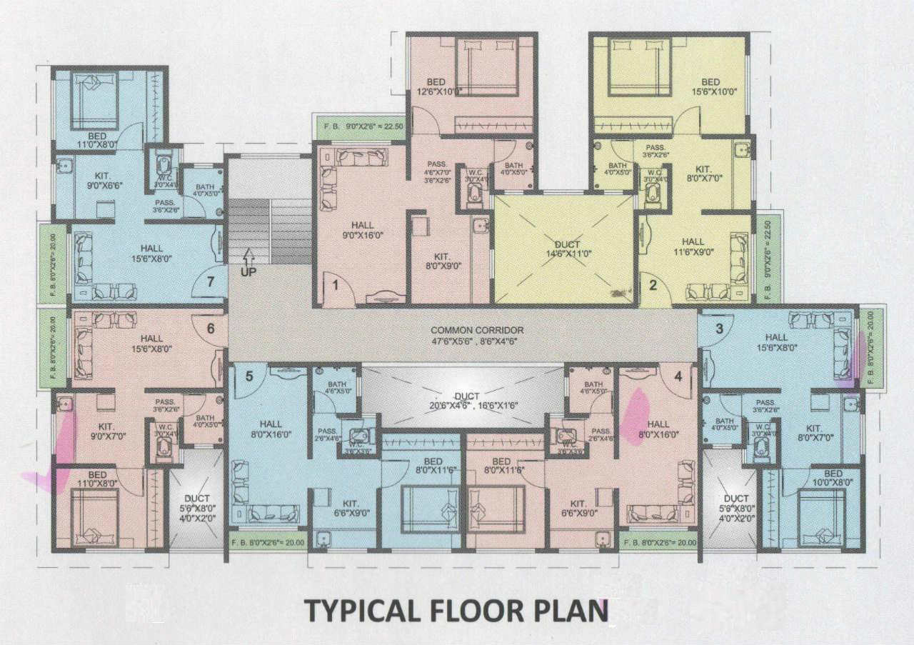 Typical floor plan of a house 28 images typical floor for Typical house floor plan